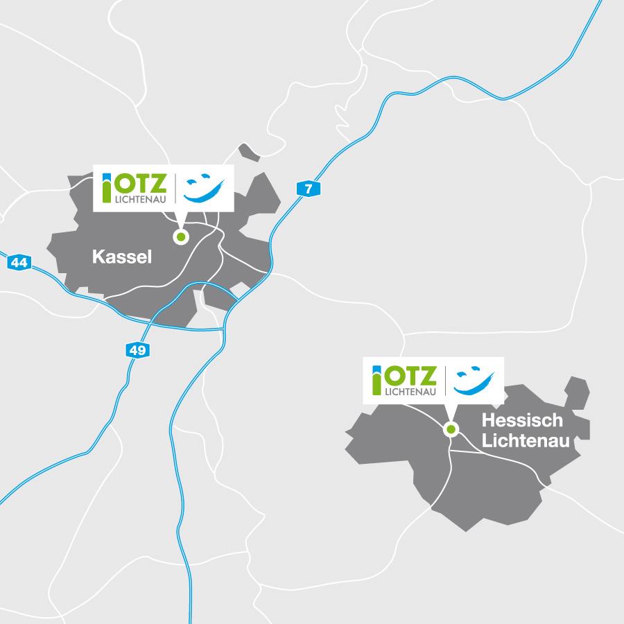 Standorte Hessisch Lichtenau,Kassel und Kassel/Vitos OKK